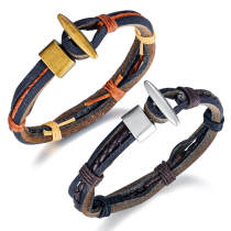 Wholesale Multilayer Braided Leather Bracelet