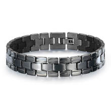 Wholesale Men Stainless Steel Black Bracelet
