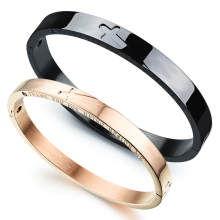 Wholesale Bangle with Cross Stainless Steel
