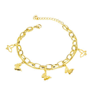 Wholesale Stainless Steel Bracelet with Butterfly