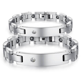 Wholesale Stainless Steel Couple Magnetic Bracelet