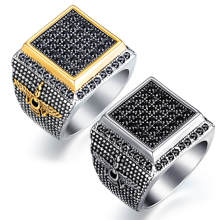 Wholesale Stainless Steel Mens Rings with CZ