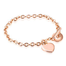 Wholesale Stainless Steel 0 Chain Bracelet with Heart