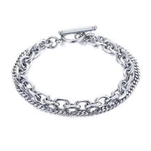 Wholesale Stainless Steel Double-deck Chain Bracelet