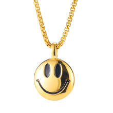 Wholesale Stainless Steel Smile Face Pendant