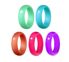 Wholesale Silicone Wedding Ring with CZ