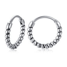 Wholesale Stainless Steel Mens Hoop Earrings