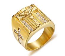 Wholesale Stainless Steel Jesus Ring
