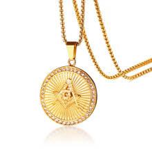 Wholesale Stainless Steel Masonic Pendant Necklace