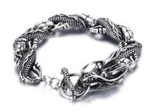 Wholesale Stainless Steel Mens Dragon Bracelets