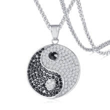 Wholesale Stainless Steel CZ Yingyang Pendant