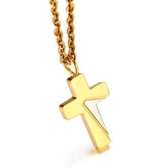 Wholesale Stainless Steel Women Cross Necklace