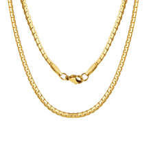 Wholesale Stainless Steel Oblate Chain Necklace