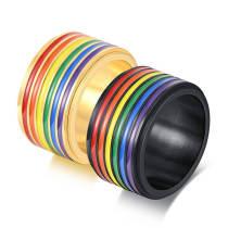 Wholesale Stainless Steel Rainbow Rings