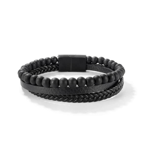 Wholesale Leather and Beads Bracelet