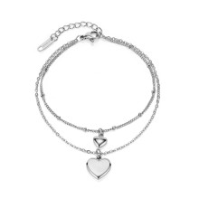 Wholesale Stainless Steel Women Bracelet with Hearts