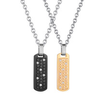 Wholesale Stainless Steel Couple Necklace