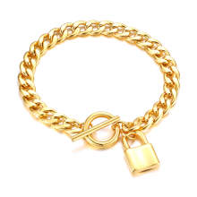 Wholesale Stainless Steel Chain with Lock Bracelet