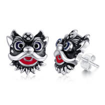 Wholesale Stainless Steel Lion Dance Earring