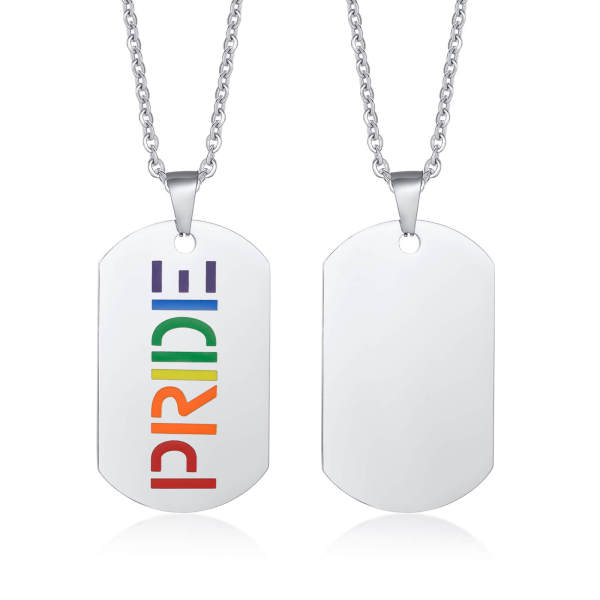 Wholesale Stainless Steel Dog Tag with Pride
