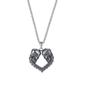Wholesale Stainless Steel Skull Heart Pendant