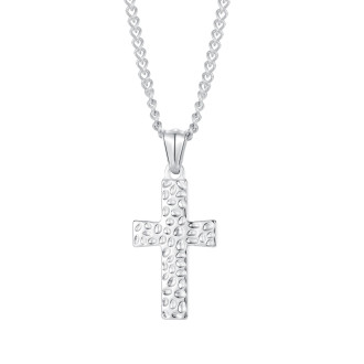 Wholesale Stainless Steel Hammered Cross Pendant