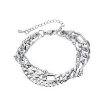 Wholesale Stainless Steel Triple Chain Bracelet