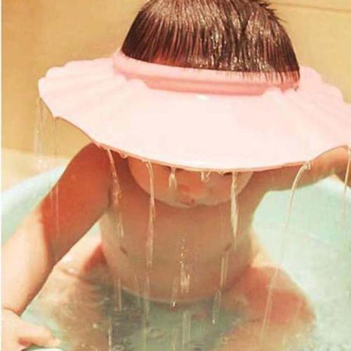Safe Shampoo Shower Bathing Bath Protect Soft Cap Hat For Baby Children Kids
