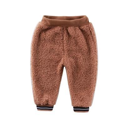 Baby Coral Fleece Long Pants Newborn Warm Clothes Boys Trousers