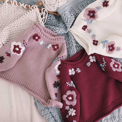 Girls Sweaters Cardigans Causal Toddler Long Sleeves Knitwear Jackets