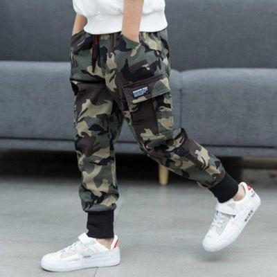 Children Boys Cotton Sport Pants Casual Camouflage Printed Cargo Pants