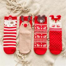 Girls Socks Casual Winter Christmas Socks Animal Cartoon Pattern Sock