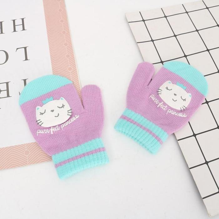 Cute Baby Warm Gloves Toddler Kid Animal Cartoon Mittens