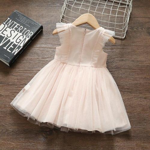 Princess Baby Girl Dress Party Birthday tutu Dress Lace Floral Baptism Wedding Dresses