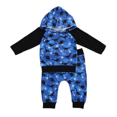 Kids Baby Boy Clothes Dinosaur Printed Suit Baby Casual Clothing