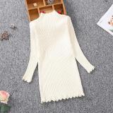 Kids Girls Knitted Sweater Autumn Winter Baby Turtleneck Long Sweater