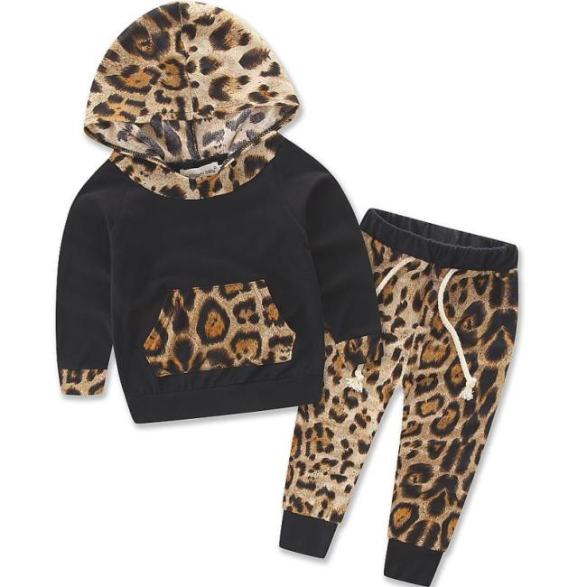 Newborn Toddler Kid Baby Boys Leopard Pullover Clothes Outfit