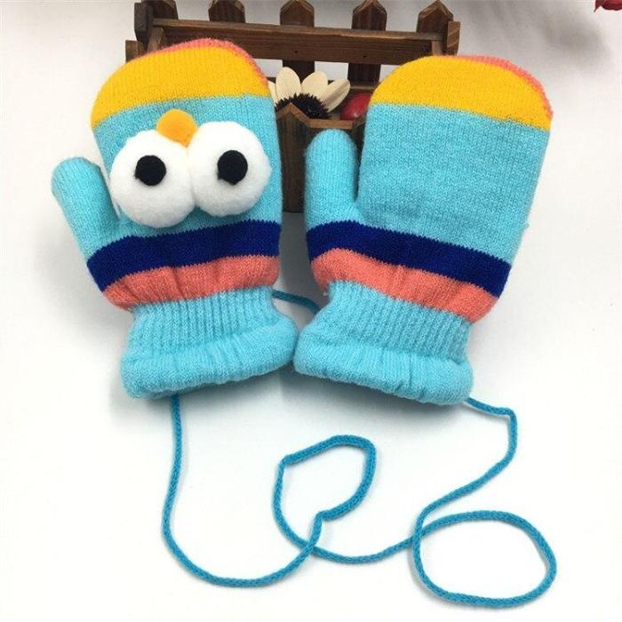Cute Gloves Baby Thicken Plus Velvet Mittens Children Kids Gifts