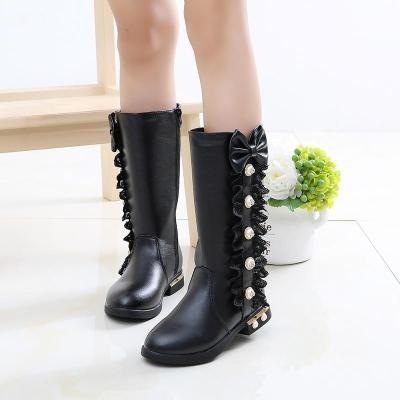 Kids Shoes for Girls High Leg Boots Fashion Princess Thickening Snow Boots