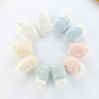 Cotton Baby Anti Scratching Gloves Mittens Newborn Infant Glove Protection Face