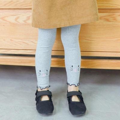 Cartoon Cat Kids Girls Cotton Leggings Casual Children's Pantyhose