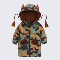 Boys Jacket Cartoon Hooded Infant Boys Camouflage Coat