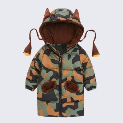 Boys Jacket Cartoon Hooded Infant Boys Camouflage Coat