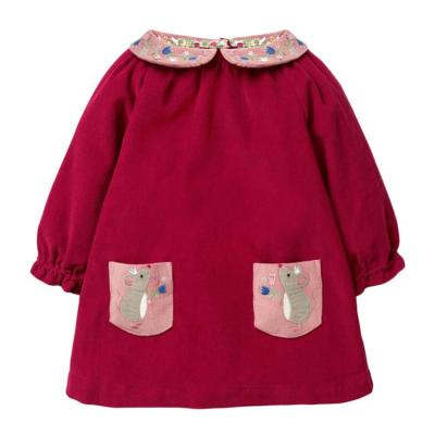 Kids Girls Autumn Children's Dress Cotton Animal Print Toddler Girl Pocket Dresses