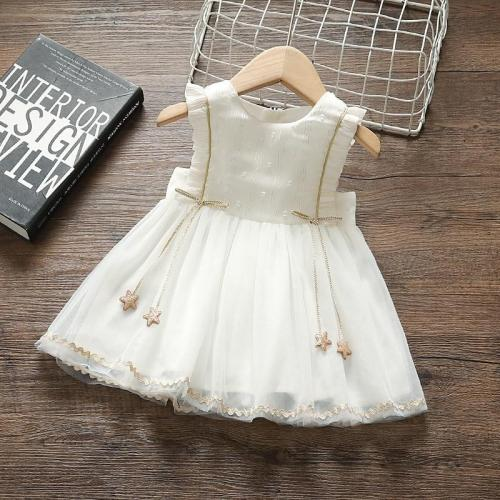 Princess Baby Girl Summer Dress Party Birthday tutu Dress White Baptism Wedding Dresses