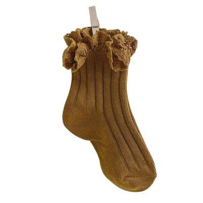 Children's Baby Girl Solid Ribbed Socks Thin Cotton Princess Socks