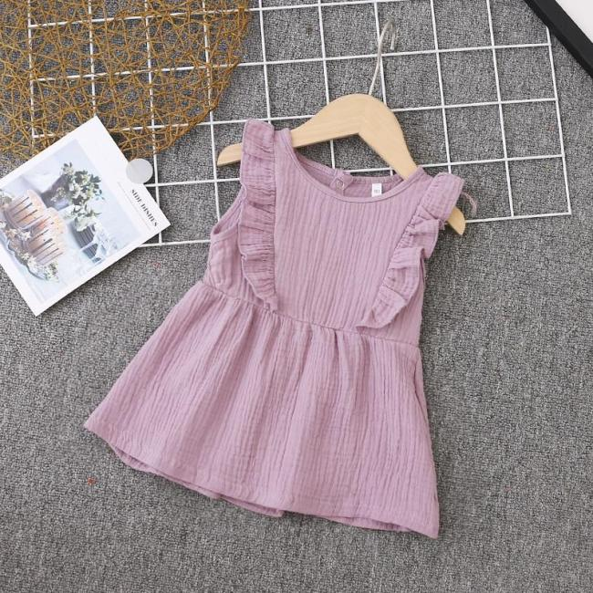Girl Dress Ruffles Children Dress Candy Color Kids Dresses for Girls