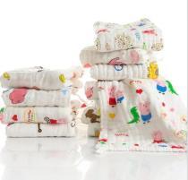 Cotton Baby Towel Handkerchief Colorful Kids Wipe Cloth Newborn Baby Face Towel