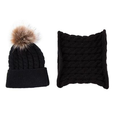 Fashion Toddler Baby Winter Warm Knitted Beanie Cap and Scarf