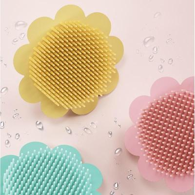 Baby Silicone Shampoo Brush Clean Head Exfoliating Silicone Shampoo Brush
